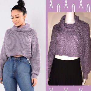 <Fashion Nova> Cropped turtleneck sweater